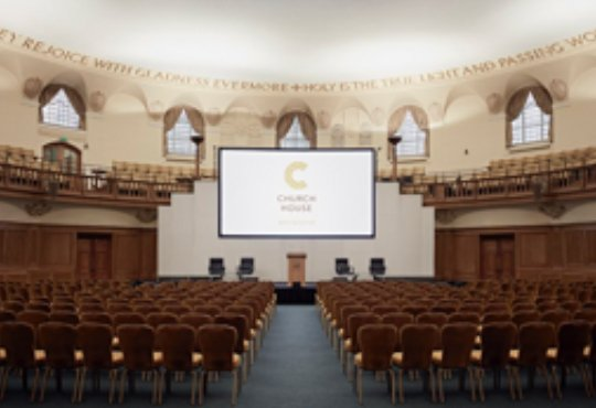 photo of a conference room in Church House London; conference production by HAV